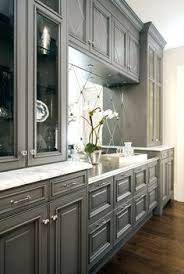 Shaker Style Kitchen Cabinet Painted In Benjamin Moore - Gray cabinets kitchen