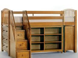 bedroom furniture beige solid wood kids boy loft bed set