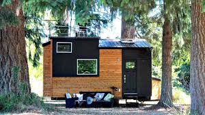 modern tiny house compact footprint interior with roof top view