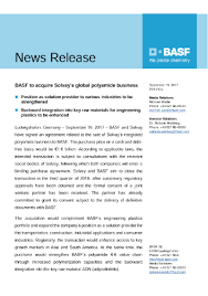 solvay si e social basf to acquire solvay s global polyamide business