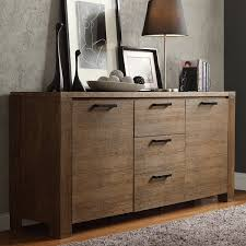 Highboard Sideboard Catalpa Walnut Finish Weathered Sideboard By Inspire Q Classic