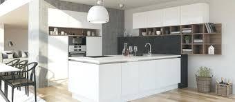 cuisine équipée blanc laqué design d intérieur cuisine equipee blanche contemporaine iilot