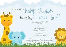 Gift Card Baby Shower Invitation Wording Baby Shower Invitations Safari Theruntime Com