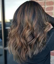 hair frosting for dark hair rich n carmel balayage brunette dark hair high lights low