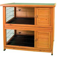 Bunny Cages Premium Double Decker Rabbit Hutch 01518 The Home Depot