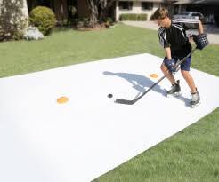 backyard super glide synthetic artificial ice goalie hockey