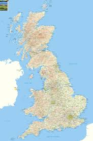 Counties Of England Map by Britain Offline Map Including England Wales And Scotland