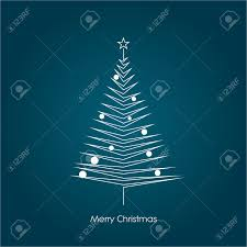 christmas tree vector symbol in modern line art design xmas