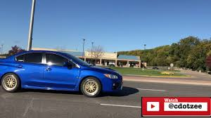 blue subaru gold rims new wheels on the 2016 subaru wrx gold wheels u0026 big tires youtube