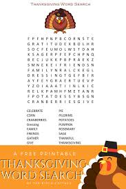 a thanksgiving word search printable for children the birch cottage