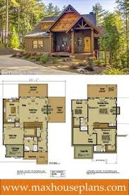 Small Cabin Plans With Loft Small Cottage Plan With Walkout Basement Cottage House Plans