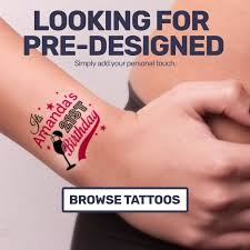 personalised temporary tattoos last 2 6 days yourdesign