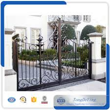 high quality ornamental antique decorative wrought iron gate fence