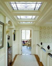 simply stained glass window design in a white door for wonderful