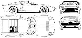 car blueprints lamborghini miura p400 blueprints vector
