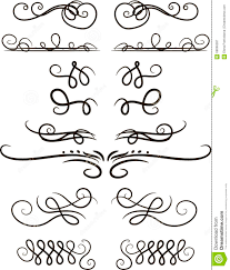 set of vector ornaments stock vector image 68066287