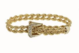 buckle bracelet gold images 14k yellow gold white gold and diamond buckle bracelet jpg