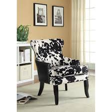 Printed Accent Chair Accent Seating Cowhide Print Leatherette Accent Chair