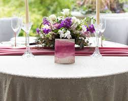 Wedding Linens Rose Gold Sequin Tablecloth Rose Gold Table Linen Gold