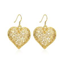 real earrings shaped real gold plated earrings for women