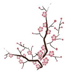 vector cherry blossom tree branch bluerth design