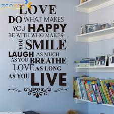 home decor rules aliexpress com buy english quotes wall decals u0027happy life rules