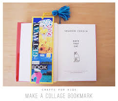 crafts for kids make a collage bookmark u2013 playful learning