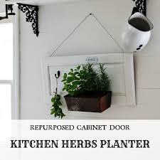 herbs planter herb garden kitchen planter on a cabinet door u0026 15 repurposed diy