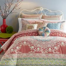 Coral Bedspread Bedroom Great Aqua And Coral Bedding And Medallion Comforter With