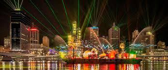 santos glng city of lights laser show 2013 brisbane