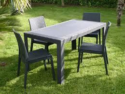 Cdiscount Table De Jardin by Stunning Salon De Jardin Resine Imitation Bois Contemporary
