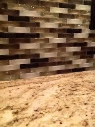Glass Mosaic Tile Backsplash - No grout tile backsplash