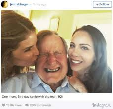 george h w bush date of birth george h w bush spends 92nd birthday with young great
