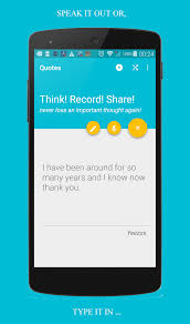 android app to quotes android app to record and your important thoughts