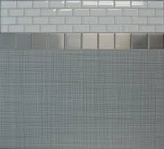 glass subway tile backsplash combine with stainless steel in f