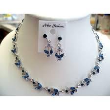 blue sapphire necklace set images Blue sapphire vintage victorian style necklace earrings set jpg