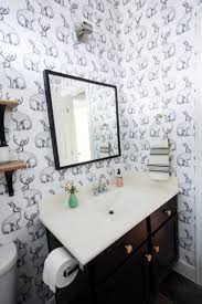 wallpaper bathroom designs jackalope wallpaper bathroom diy smooth textured walls