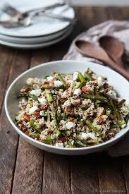 Asparagus Dishes Main Course - creamy goat cheese asparagus quinoa salad easy healthy recipes
