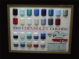 choice 1961 chevrolet showroom sales paint color display piec 192313