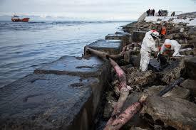 russian oil tanker runs aground off sakhalin spills part of load