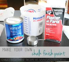 before and after desk makeover using make your own chalk finish