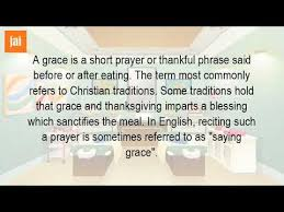 what is saying grace