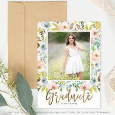 senior graduation announcement templates senior photo card templates for photographers senior photoshop