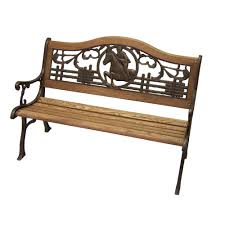 Outside Benches Home Depot by Oakland Living Horse Patio Bench 6126 2 Ab The Home Depot