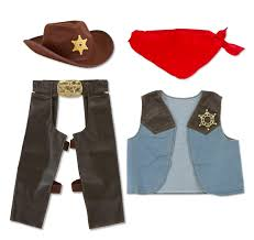 Cowboy Halloween Costume Amazon Melissa U0026 Doug Cowboy Role Play Costume 5 Pcs