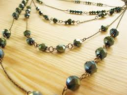making necklace beads images Multi strand chain and bead necklace how did you make this jpg