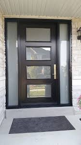 modern exterior door with multi point locks 4 door lites and 2