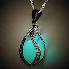 glow in the necklaces qilmily glow in bead pendant necklace for women hollow