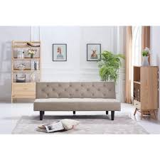 dorel casey twin size black faux leather sleeper sofa 2150009