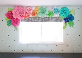 the craft patch paper flower window treatment